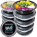 [30er Pack] Runde Meal Prep Container Von Igluu - Essensbox, Lunchbox Mikrowellengeeignet, Spülmaschinenfest Und Wiederverwendbar - Luftdichter Deckelverschluss, BPA Frei