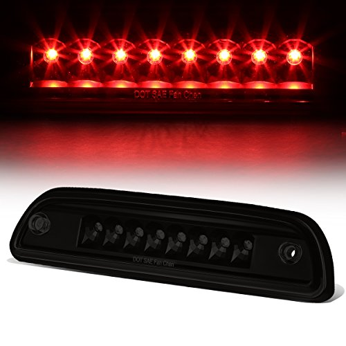 Rear High Mount Tinted Housing LED 3rd Third Tail Brake Light Stop Lamp Compatible with Toyota Tacoma 95-15, 16+ for Access Cab Only
