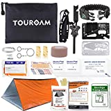 TOUROAM Trauma First Aid Kit Tactical IFAK Molle Pouch Survival Kit -Military Combat Tourniquet,Israeli Bandage,Mylar Blanket Emergency SOS Tool Kit