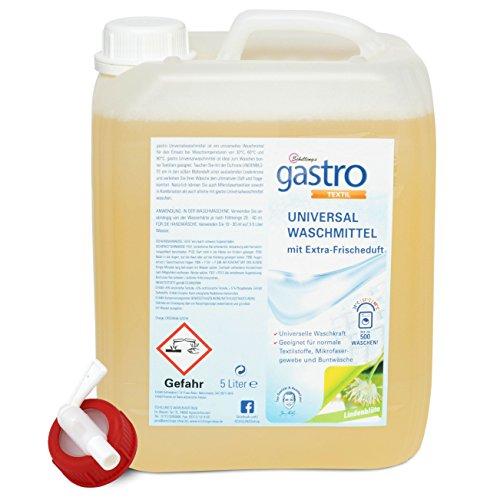 gastro Universal Waschmittel flüssig, 5L Kanister mit Auslasshahn (1 x 400 Waschladungen) (Lindenblüte)