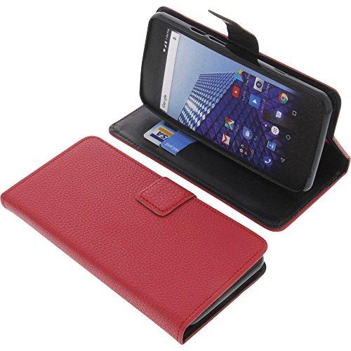 foto-kontor Tasche für Archos Access 50 4G Book Style rot Schutz Hülle Buch