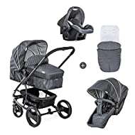 Hauck Pushchair Travel System Pacific Shop N Drive / Up to 25 Kg / Pram Convertible to Reversible Se...