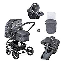 TRAVEL SET: Consistent of large pram (from birth to 9 kg), infant car seat (from birth to 13 kg) and pushchair loadable up to 25 kg (seat unit 22 kg + basket 3 kg) CAR SEAT: The Zero Plus baby car seat can be used from birth to 13 kg and can be fixed...
