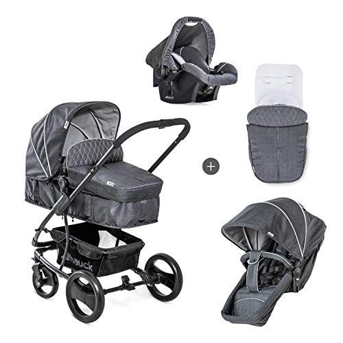 Hauck Pacific 4 Shop N Drive Lightweight Pushchair Set up to 25 kg with Group 0 Car Seat, Carrycot...