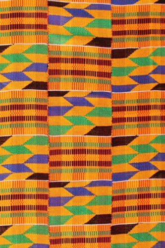 Kente Print Notebook: African Print | Beautiful Colours | Matte Cover| Wide...