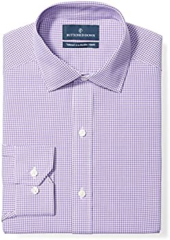 Buttoned Down Men's Tailored Fit Spread Collar Pattern Dress Shirt