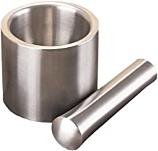 UPKOCH Garlic Medicine Herb Stainless Steel Cup Baby Food Supplement Mortar Pestle Masher Grinder Mill Tools Diameter
