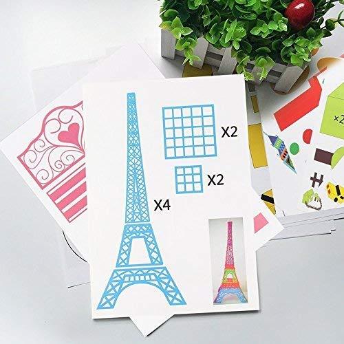 3D Pen Schablonen,3D Pen Stencils 3D Drucker Stift Papier Stencils/ 20 Seiten Verschiedene Papier Patterns/ New Design Papier Formen für 3D Druck Feder,3D-Zeichnungs Feder und 3D Gekritzel Feder/ 3D-Modellbau Arts & Crafts Zeichnung/ Bunte 3D Druckmuster. - 3