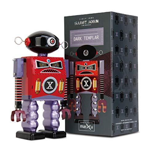 Sinihan Vintage Robot Toy, Tin Wind Up Toys, 80s Retro Collectible Robots, Metal Windup Walking Toys, Robotic Party Favors for Kids, Dark Templar