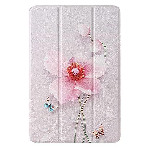 KM-WEN® Funda para Apple iPad Mini 4/5 2019 (7,9 pulgadas), diseño de flores rosadas y flores