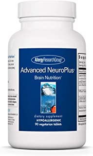 Allergy Research Group - Advanced NeuroPlus - Memory, Cognitive, Brain Support - 90 Vegetarian Tablets
