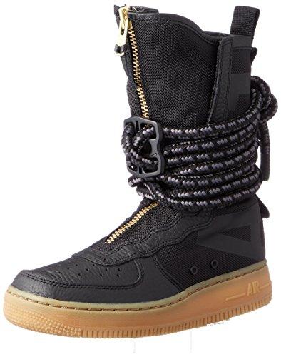 Nike SF Air Force 1 High Top Womens Boots Black/Gum Light Brown/Black aa3965-001 (6.5 B(M) US)