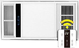 GXFC Techo de Luz de Ventilador de Calefactor Combo Baño Extractor de Aire con Plafón LED y Termoventilador Multifuncional 4 en 1 Hogar Calefacción - Interruptor inalámbrico