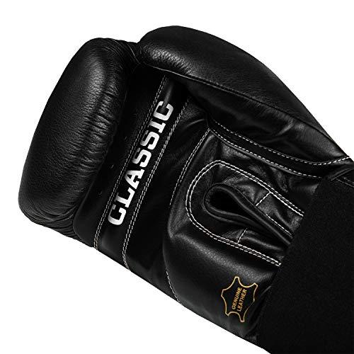 Title Classic Leather Elastic Training Gloves 2.0, Black, 16 oz