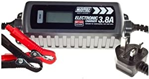 Maypole MP7423 Battery Charger Auto Electronic 3 8A 12V Fast Trickle Pulse Modes
