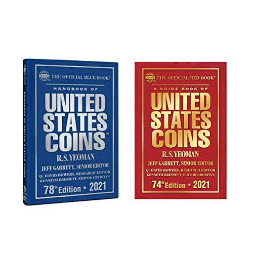 2021 Red Book, Price Guide and 2021 Blue Book, Handbook of U.S. Coins, Hardbound