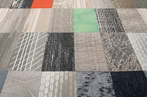 Nance Industries 17665 Peel and Stick Commercial Carpet Tile, 12