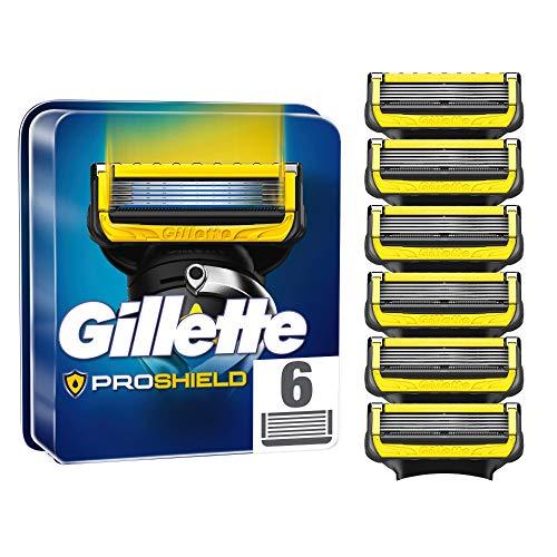 Gillette ProShield Rasierklingen für Männer, 6 Stück, mit 5 Anti-Irritations-Klingen, für eine gründliche und lang anhaltende Rasur