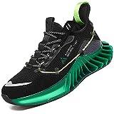 Mishansha Moda Zapatos de Running Hombre Ligero Zapatos para Correr Mujer Gimnasio Sneakers Negro 40