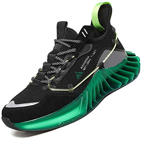 Mishansha Moda Zapatos de Running Hombre Ligero Zapatos para Correr Mujer Gimnasio Sneakers Negro 42