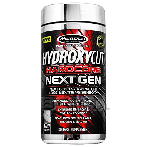MuscleTech Performance Series Hydroxycut Hardcore Next Gen | With Caffeine, Green Coffee, Coleus and Guayusa | For Extreme Energy & Mental Focus | Dietary Supplement | Weight Management | 100 Capsules