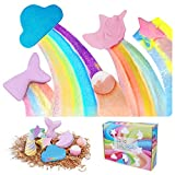 Bath Bombs Gift Set - 8 Packs Organic & Natural Bubble Bath Spa Kit, Rainbow Unicorn, Cloud Bath Fizzy Gift for Women Kids Girls