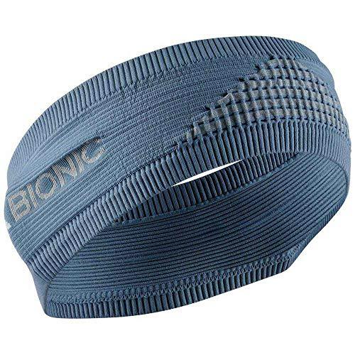 X-Bionic Headband 4.0, Sweatband Fascia Sportiva Unisex – Adulto, Bluestone/Dolomite Grey, 1