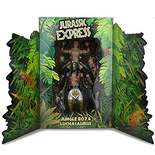 AEW Jurassic Express Jungle Boy and Luchasaurus Exclusive Wrestling Action Figures