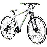 Galano Mountainbike 29 Zoll Hardtail MTB Fahrrad Ravan 24 Gänge Bike 3 Farben (weiß/grün, 48 cm)