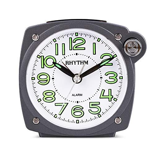 JSJJAYU Despertador para niños Beep de Cuarzo Reloj de Alarma Snooze & Light Function Silky Move Move Luminoso Dial, Trabajo, Estudio, Good Companions (Color : Gray)