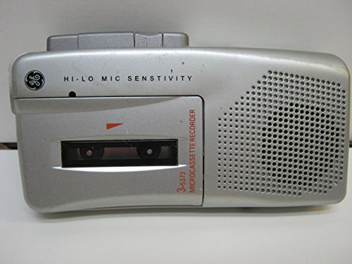 GE Microcassette Recorder 3-5373 (silver)