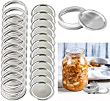 12 wide Mouth Replacement Rings,Used for mason jars, spherical jars, canned jars, storage (12 Regular Mouth Replacement Rings) (Regular Mouth 12 lid+12 ring)