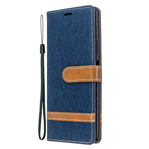 Jeewi Hülle für Sony Xperia 8 Hülle Handyhülle [Standfunktion] [Kartenfach] [Magnetverschluss] Tasche Etui Schutzhülle lederhülle klapphülle für Sony Xperia 8 - JEBF031103 Marineblau