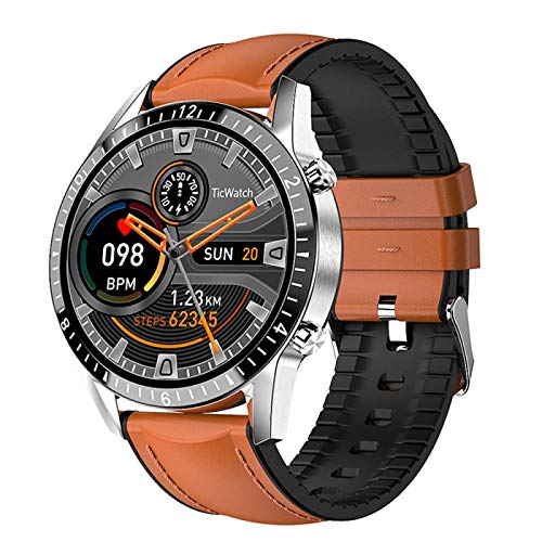 I9 Smart Watch, Fitness Tracker,2021style, Ip67 Waterproof, with Oxygen Saturation, Bluetooth Call, Children's Male and Female Pedometer,Removable Strap(Brown)