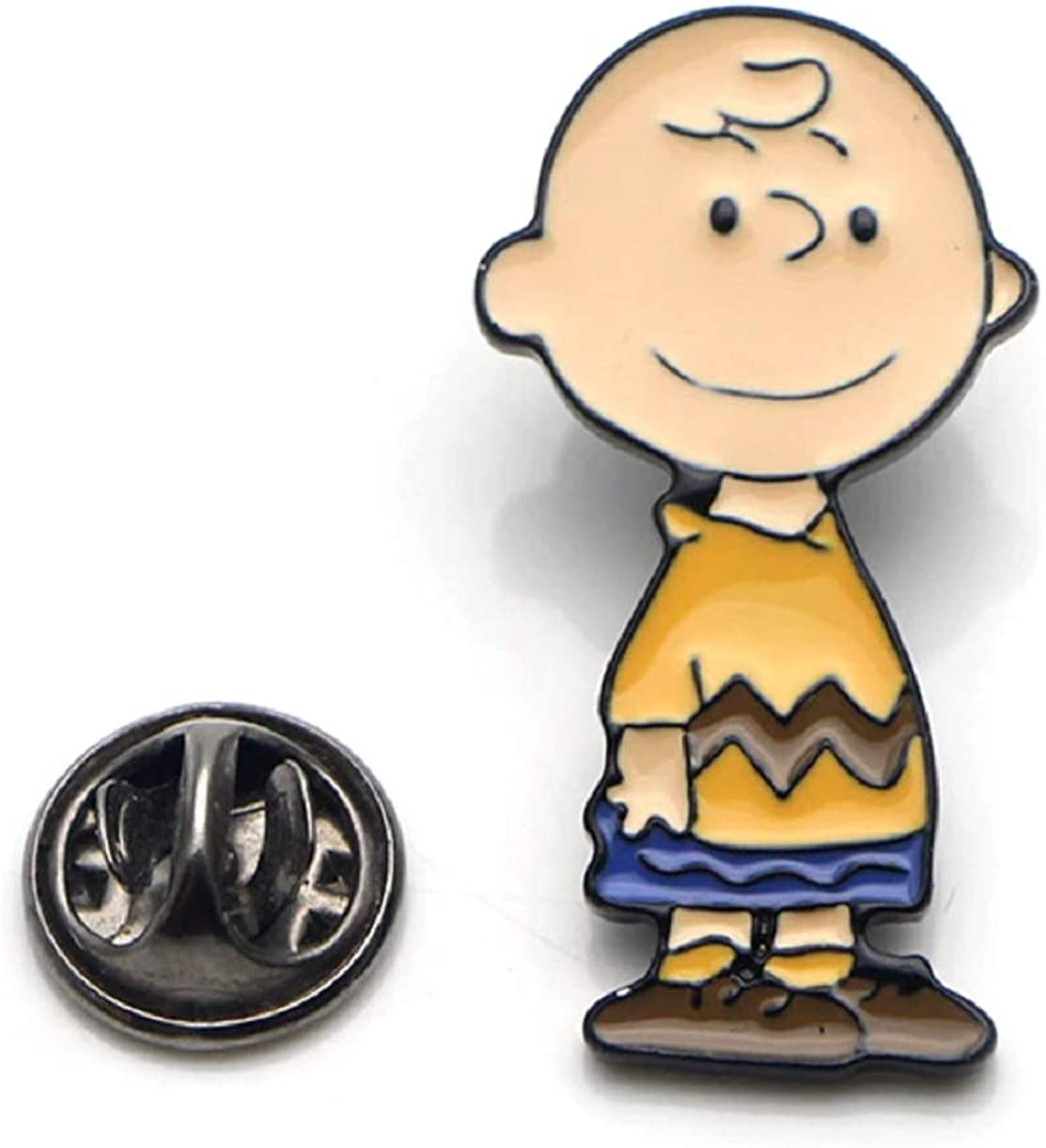 Crazy Adorable Charlie Brown Inspired Pin.Wear Enamel on Y 1.25