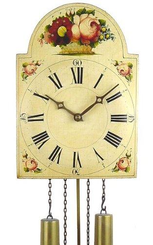 von Eble Uhren-Park Schwarzwälder Schilderuhr mit echtem handbemalten Holzschild Hönes -Blumenkorb- 738