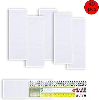 40 PCS Nameplate Pocket Adhesive Desk Nameplates Name Tag Pocket 13.4 x 4.7 Inch