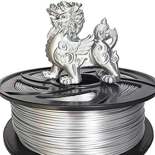 3D Printer Filament 1.75mm 1KG PLA ABS Nylon Wood TPU PETG Carbon ASA PP PC 3D Plastic Printing Filament from Moscow toughness (Color : PLA Yellow) GDSZMML (Color : New Silk Like Silver)