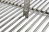 Grillrost.com Das Original Rascador de Parrilla de Acero Inoxidable para espesores de Varilla 4mm 5mm 6mm 6mm 8mm