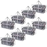 ATBAY Large Moving Bags with Strong Handles and Zippers,No Smell,Storage Bags Transparent 8packs