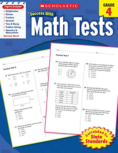 Scholastic Success with Math Tests, Grade 4 (Scholastic Success with Workbooks: Tests Math)