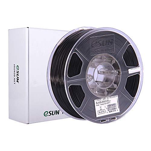eSUN Filamento ABS+ 1.75mm, Filamento ABS Plus para Impresora 3D, Precisión Dimensional +/- 0.05mm, 1KG (2.2 LBS) Carrete Filamento de Impresión 3D, Negro