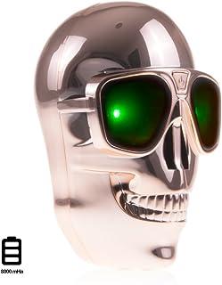 Silica dml075 – Skull Power Bank 8800 mAh, bronsfärgad