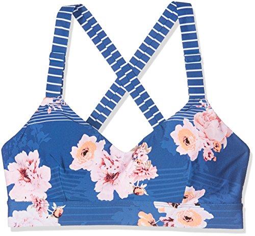 Seafolly Damen Vintage Wild Flower Dance Bralette Sport-BH, Blau (French), 90(Herstellergröße:10)