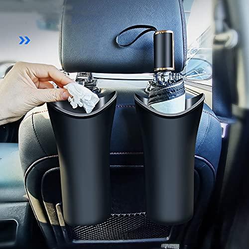 Hanging Car Bin Multipurpose Car Truck Back Seat Trash Can Organizer, Waterproof Trash Can for Umbrella (2 Packs)