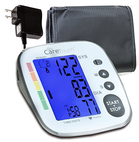 Care Touch Blood Pressure Monitor with AC Adapter | Platinum Series |...