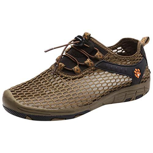 OPAKY Sandalias Deportivas Hombres Verano Exterior Senderismo Zapatos Trekking Casual Zapatos de Montaña Sandalias de Playa Malla Transpirable Zapatillas