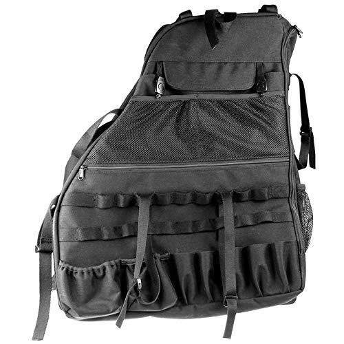 HKPKYK Überrollbügel Aufbewahrungsbeutel Käfig, für Jeep Wrangler Jk Rubicon 2007~2019, 4-türig mit Multi-Pockets Organizers Cargo Bag Satteltasche