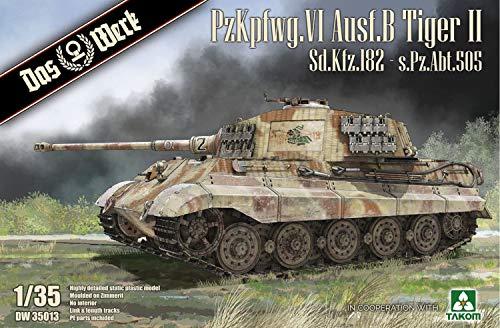 Das Werk DW35013 35013 1 35 Tiger II sPzAbr 505 con Zimmerit (sin Interior).