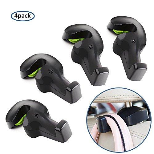 Bestech Pack von 4 Universal Auto Fahrzeug Rücksitz Kopfstütze Hanger Halter Haken
